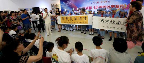 中国瘦金体书法家刘瀚文先生现场诠释作品的意义