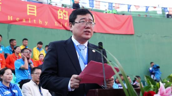 国家体育总局网球运动管理中心副主任黄玮致辞
