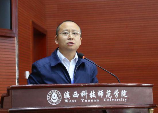 云南省人社厅党组成员、厅长助理韩永江致辞 马金摄