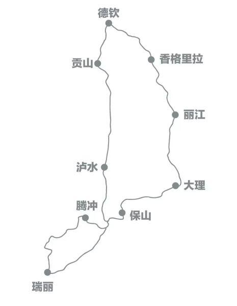 大滇西旅游环线图