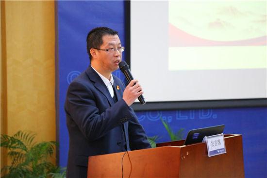 城区供电所支部负责人邵兴坤进行书记成果交流发布