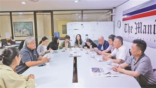 代表团与菲律宾当地媒体座谈交流