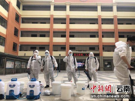 云南鸿帆商贸开展校园疫情防控公益活动