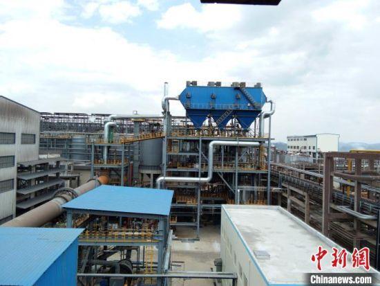 图为铝灰加工现场全景。云南文山铝业有限公司供图