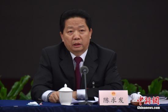 资料图:辽宁省委书记陈求发。中新社记者 金硕 摄